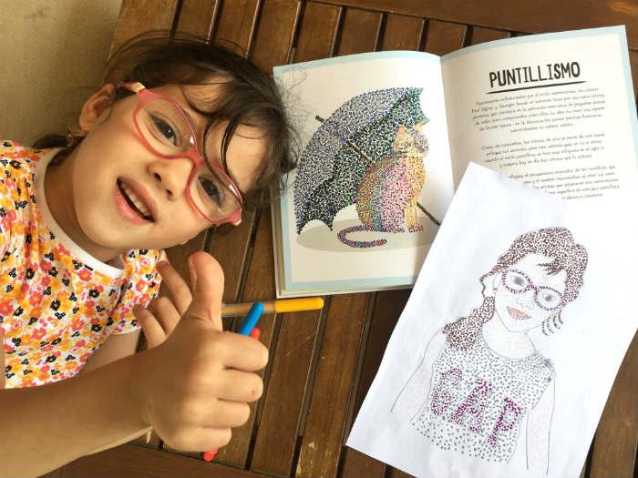 libro ilustrado para niños aprender Historia arte en 21 gatos actividad creativa