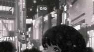 Anime girl wallpaper black and white