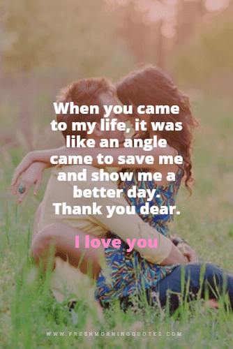 when you came to my life thank you for loving me quotes