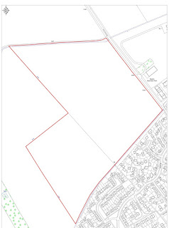 Plan for new Larkfleet Homes development in Sawtry