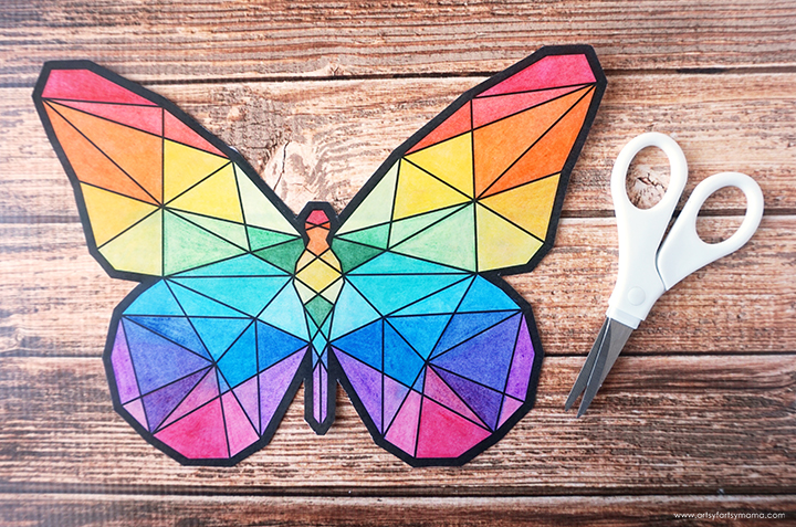 Free Printable Butterfly Suncatcher