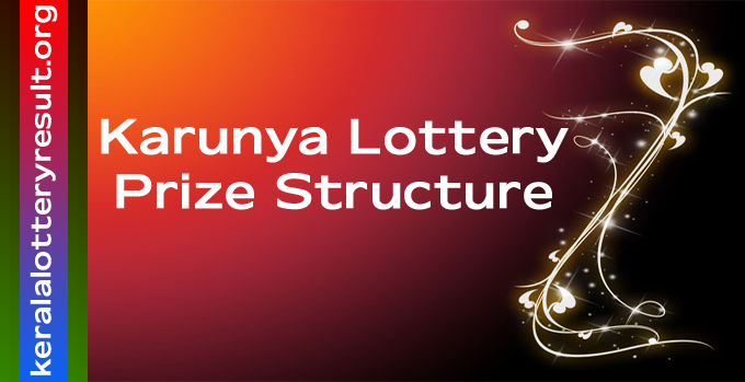 Prize Structure of Karunya Weekly Lottery 2021