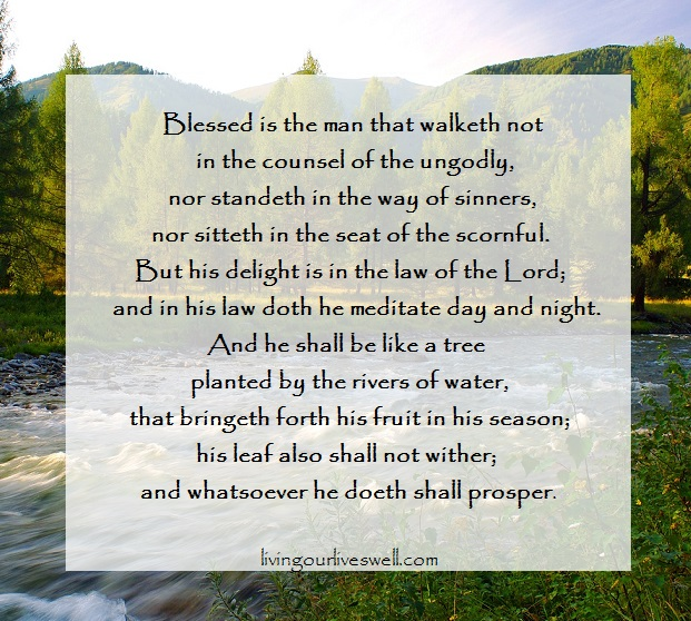 Psalm 1:1-3 Scripture memory