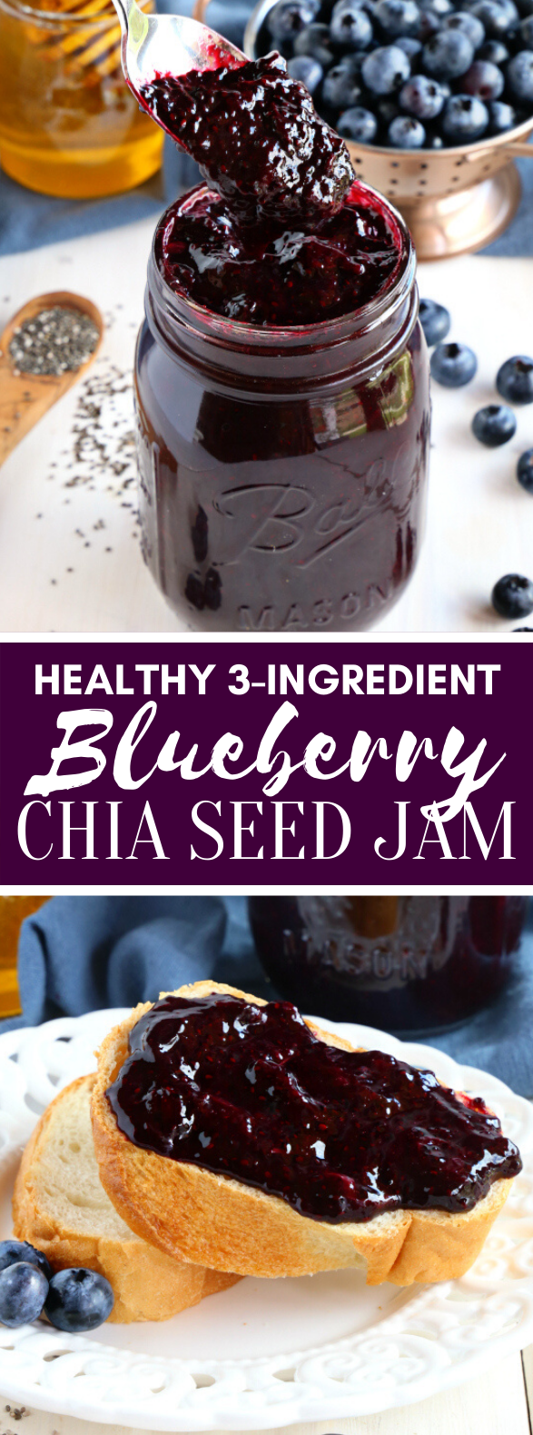 3-INGREDIENT BLUEBERRY CHIA SEED JAM #healthy #wholefood