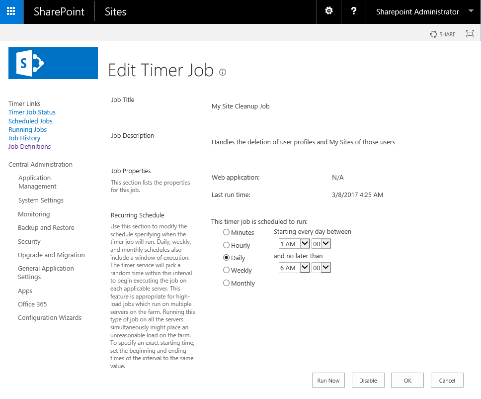 how to delete sharepoint timer job using powershell