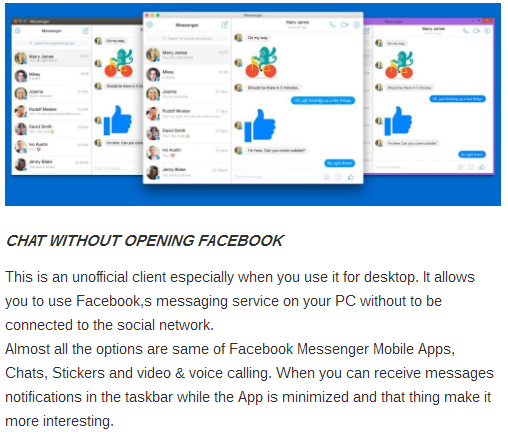 Download Facebook Desktop Messenger Free