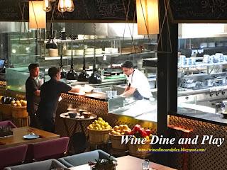 The OSH restaurant kitchen in Dubai