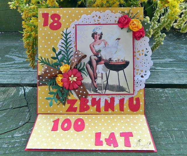 karka na 18ste urodziny, kartka urodzinowa, prezent na 18stkę, Galeria Papieru, Kapuśniaczek
