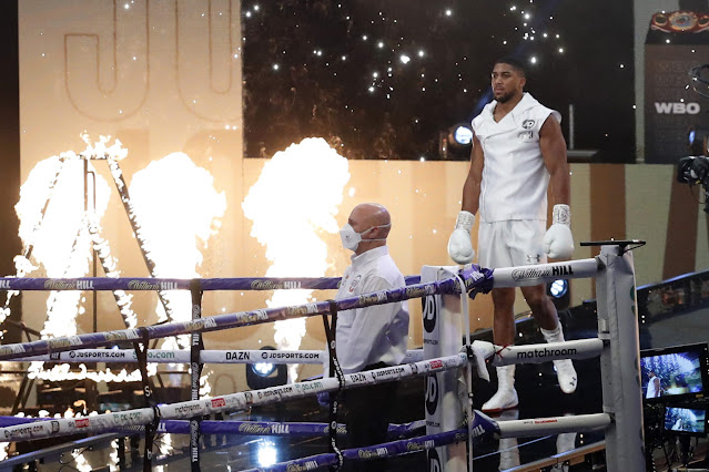 Joshua walks into the Arena