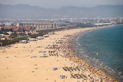 Valencia City beach.