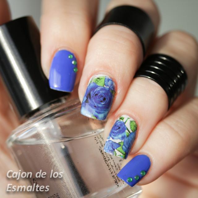 flores tatuajes decoración de uñas water decals