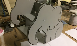 wood chair elephant image carved by cnc machine