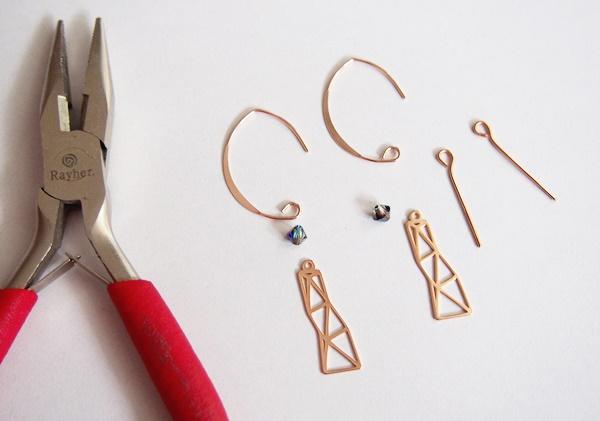 DIY : boucles d'oreilles pendantes