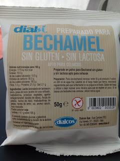 Bechamel preparada, sin lactosa ni gluten.
