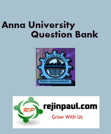 Regulation 2013 3rd Semester Question Banks