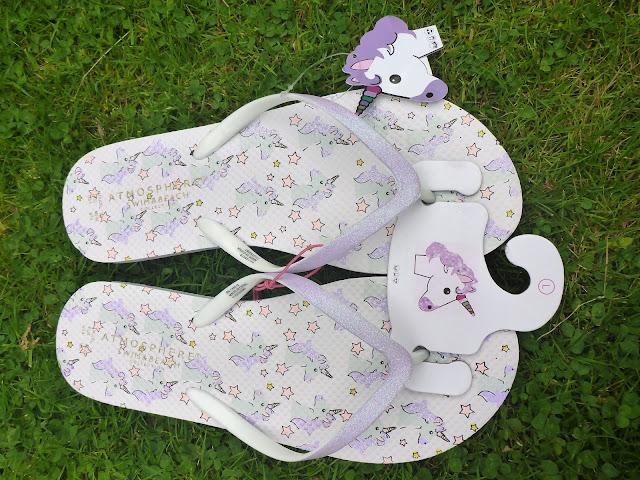 Primark Unicorn Flip Flops