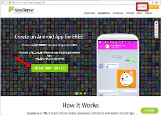 Tutorial Crara Membuat aplikasi dan game Android tanpa bahasa pemerograman