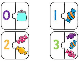 Rompecabezas de números del 1 al 10 para imprimir