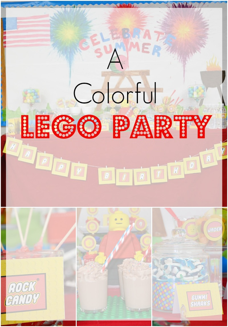 A Colorful LEGO Party