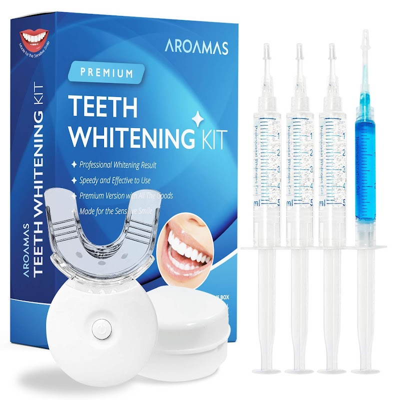 30% OFF Aroamas Teeth Whitening Kit, With Led Light