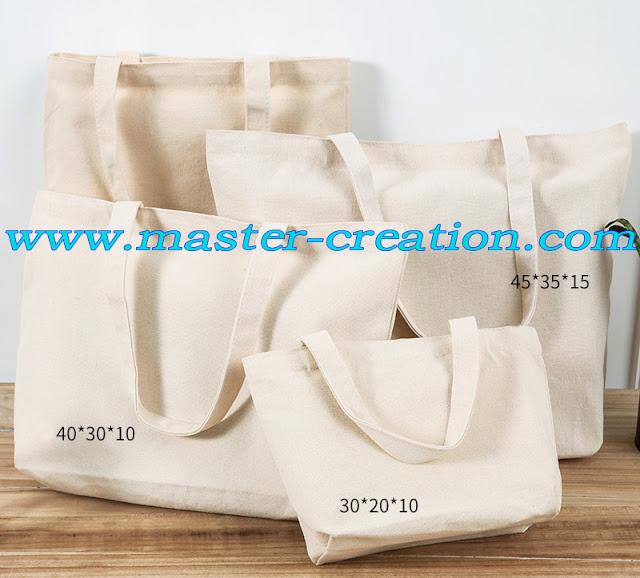 beige cotton bag