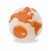 Orbee balls are great tough dog chews - Pictured here is the Earth Ball