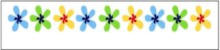 soal gambar pola bunga