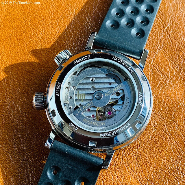 Lip Nautic-Ski Reissue case back movement