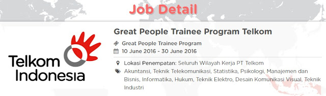 Telkom Group Career - Great People Trainee Program Telkom
