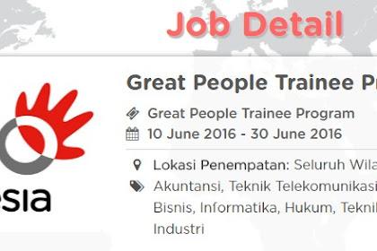 Telkom Group Career - Great People Trainee Program Telkom