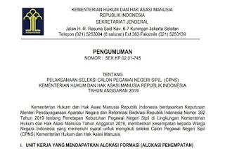 formasi CPNS Tahun 2019 Lulusan SLTA