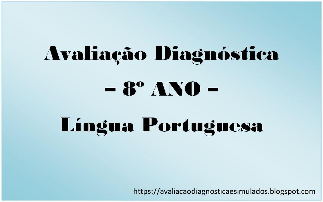 Avaliação Diagnóstica E Simulados Avaliação Diagnóstica 8º