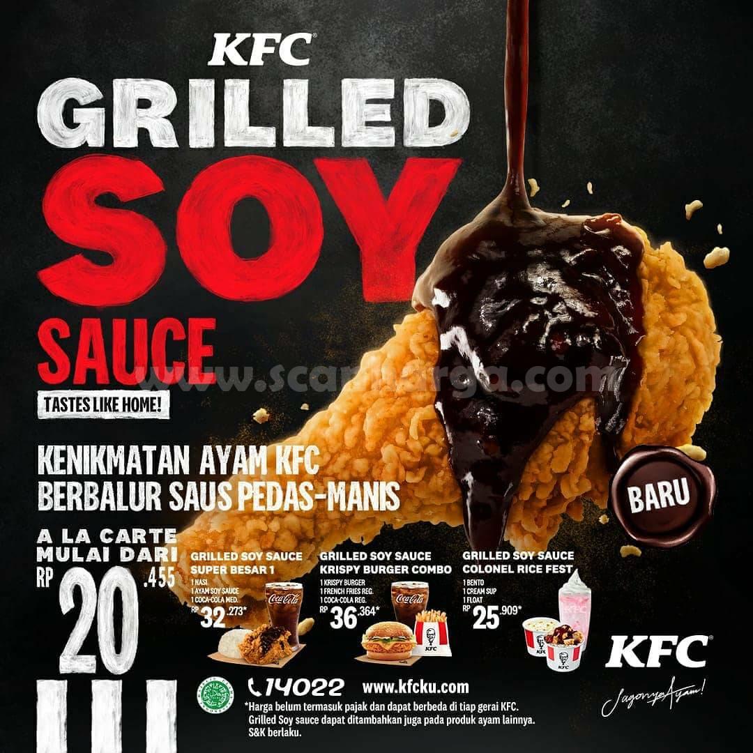 BARU! KFC Grilled Soy Sauce Chicken - harga mulai Rp 20.455