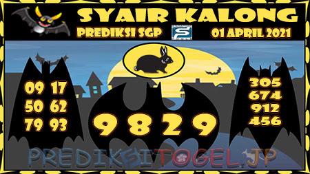 Prediksi Kalong SGP Kamis 01-Apr-2021