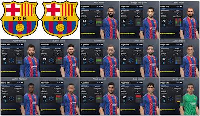 PES 2017 FC Barcelonal Facepack 1.0