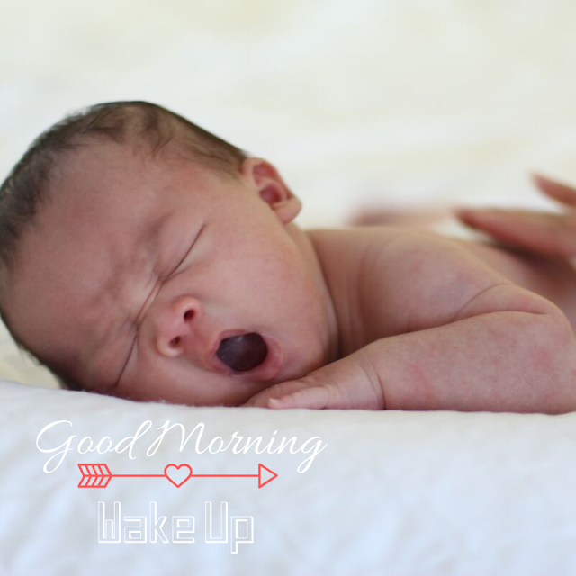 Good Morning Images With sleeping Baby