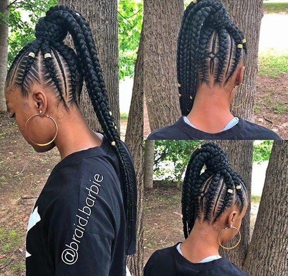 Weave – Box Braid with Ponytail