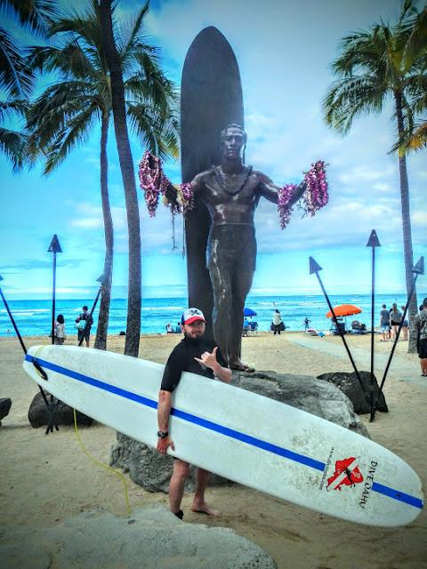 ExtraHyperActive surfing at Waikiki