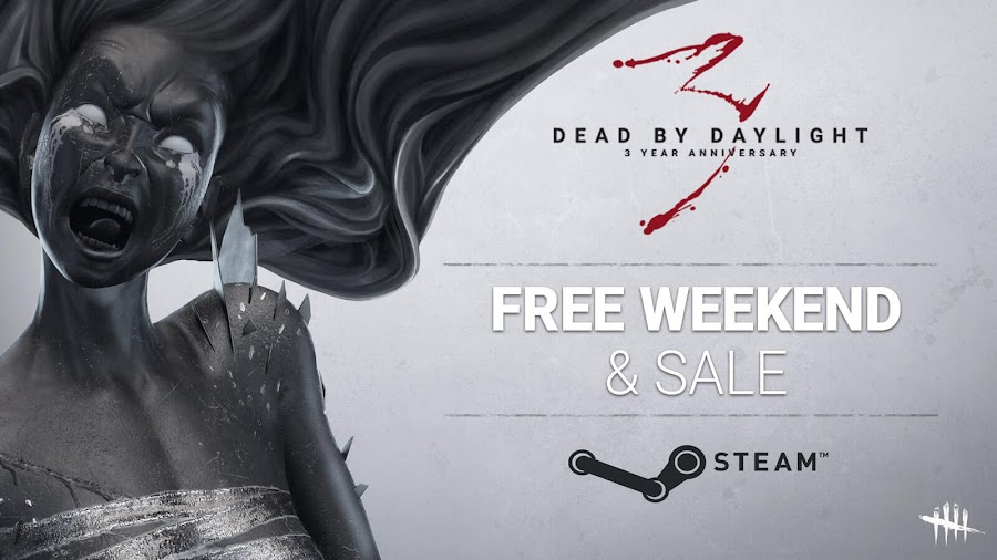 dead by daylight 3rd anniversary free weekend promotion sale