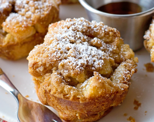 FRENCH TOAST MUFFINS #healthy #diet  #paleo #muffins #easy