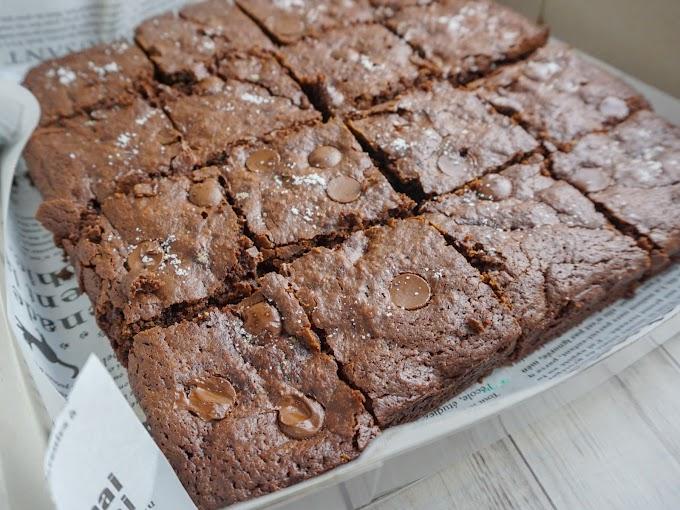 Resepi Premium Belgian Chocolate Brownies