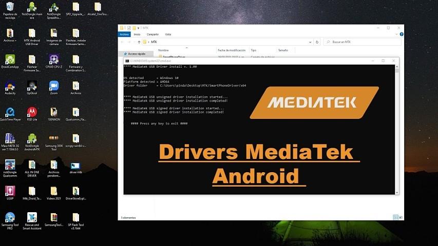 Instalación de drivers MediaTek Android en Windows paso a paso