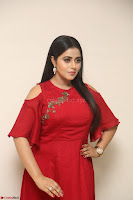 Poorna in Maroon Dress at Rakshasi movie Press meet Cute Pics ~  Exclusive 172.JPG