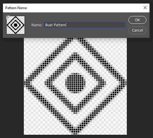 Mulai menyimpan objek sebagai Pattern di Photoshop