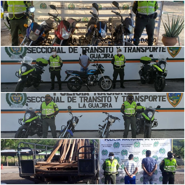 hoyennoticia.com, Cuatro capturados y nueve motos inmovilizadas en La Guajira