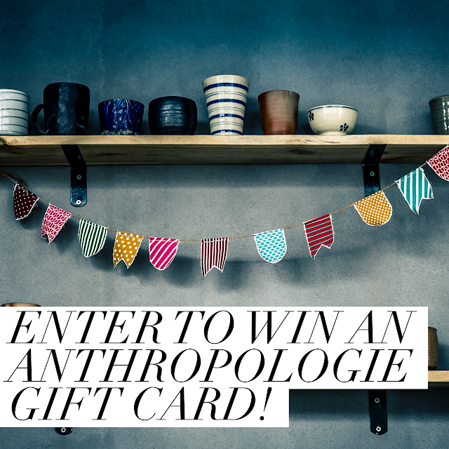 fashion blogger, anthropologie, giveaway