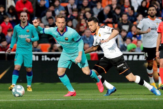 برشلونة يتجرع الخسارة الأولى مع سيتين أمام فالنسيا