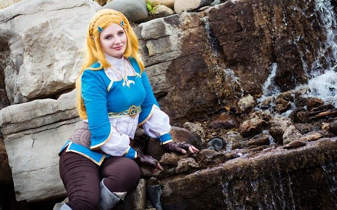 Evie E con su cosplay de Princesa Zelda