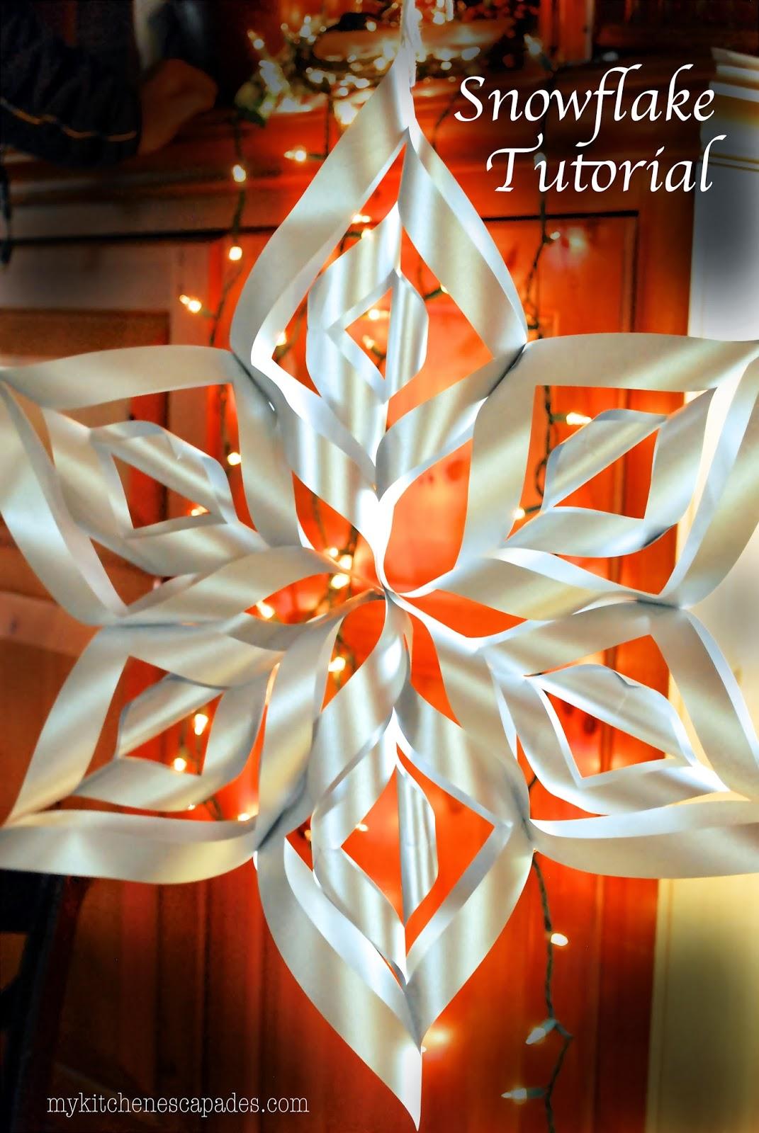 Large Paper Snowflake Tutorial -