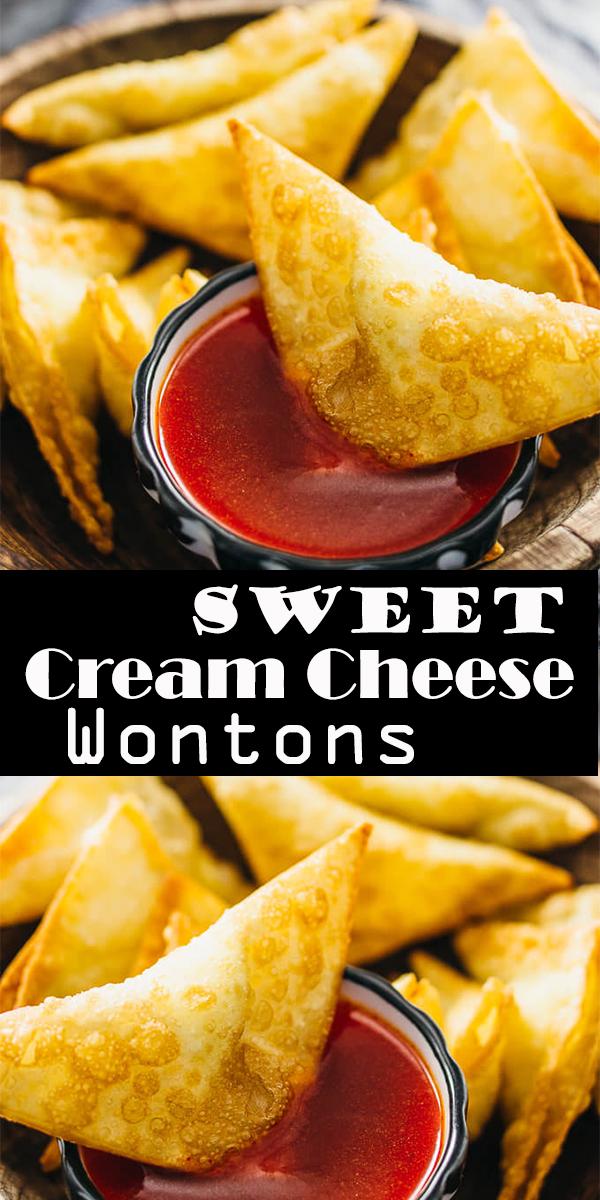 Sweet Cream Cheese Wontons #Sweet #Cream #Cheese #Wontons #SweetCreamCheeseWontons